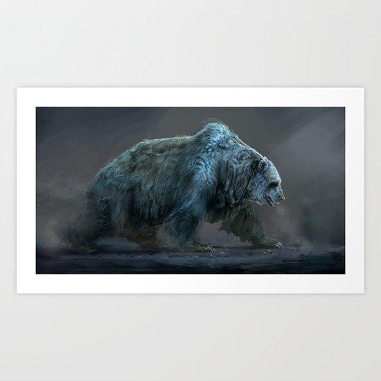 Frozen Bear Art Print