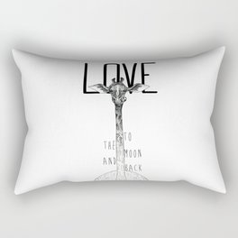 LOVE TO THE MOON AND BACK Rectangular Pillow