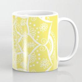 Mellow Yellow Flower Mandala Coffee Mug