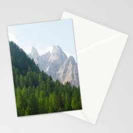Forest Pines and Mountain Spikes Stationery Cards