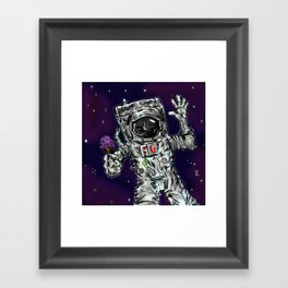 In Space No One Can Hear You Scream For Ice Cream Framed Art Print