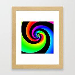 Colourful swirl Framed Art Print