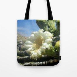 Saguaro cactus flower Tote Bag