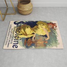 Saxol Ine P Trole De Suret 1895 By Jules Cheret   Reproduction Art Nouveau Rug