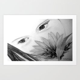 Beautiful Girl Art Print
