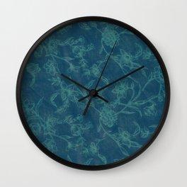 Flower Pattern (Green version) Wall Clock
