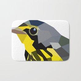 Bird art canada warbler Yellow gray Bath Mat