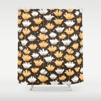 gucci Shower Curtains featuring shaggy black by Ariadne