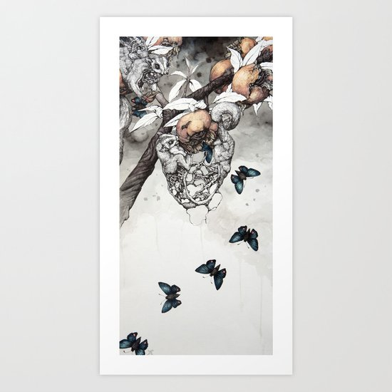 Sugar Gliders Art Print