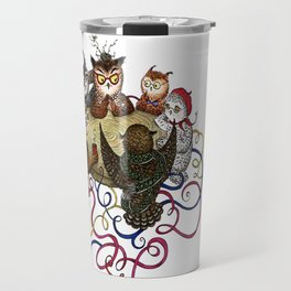 Art School Owl Assembly Travel Mug
