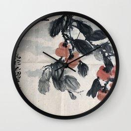 AU 49 - Verdant Tree & Golden Balls I Wall Clock
