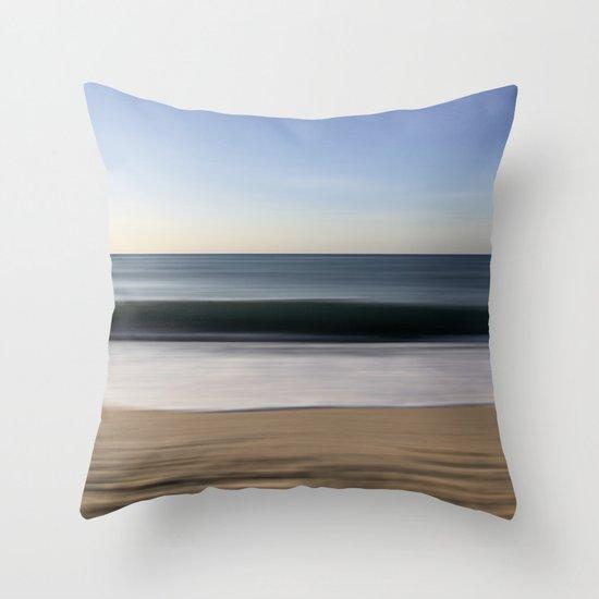 seascape blue III Throw Pillow