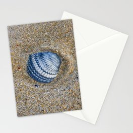 INDIGO COCKLE SHELL ON SAND Stationery Cards