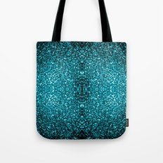 Beautiful Aqua blue glitter sparkles Tote Bag
