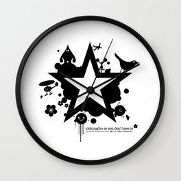 Bargain hunter gatherers character combustion Wall Clock