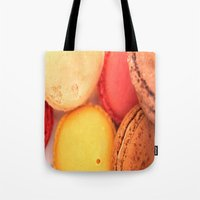 macaroons Tote Bags featuring Macaroons by alexarayy