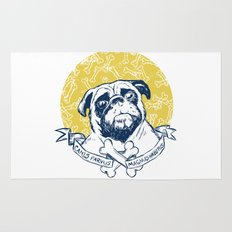 Pug : Small dog, big attitude. Rug