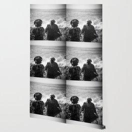 """Sisters on the Shoreline"" Holga photograph Wallpaper"
