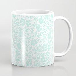Stamp Floral Pattern Coffee Mug