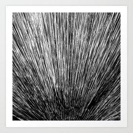 Electroshock Black+White Art Print