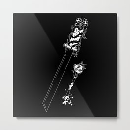 Key and Sword Metal Print