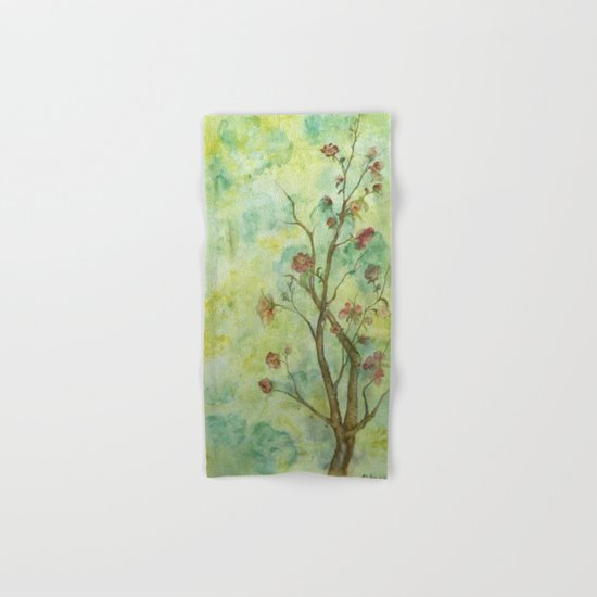 Branch with flowers Hand & Bath Towel