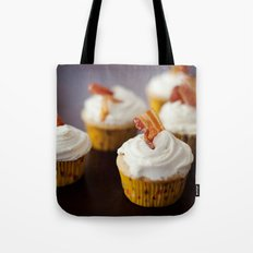 Bacon Maple Cupcake Tote Bag
