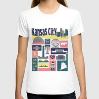 kansas T-shirts featuring Kansas City by cwassmer
