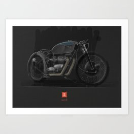 Triumph Bobber Art Print