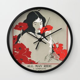 Poster Sunday Press All May Ride- George Reiter (new color rendition) Wall Clock