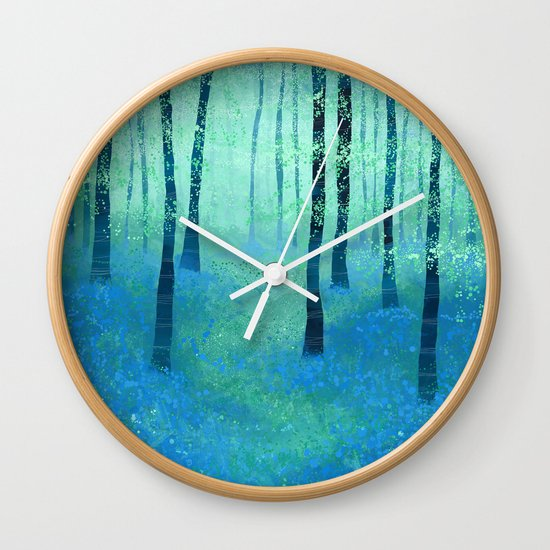 Bluebells, Challock Wall Clock