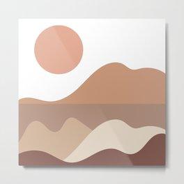 Neutral Mountains Metal Print