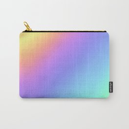 Holographic Foil Multi Colored Pattern Colorful Gradient Abstract Rainbow Carry-All Pouch