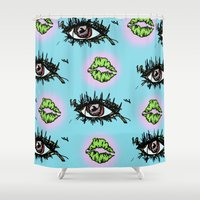 trip Shower Curtains featuring Trip by Natalie Purslow