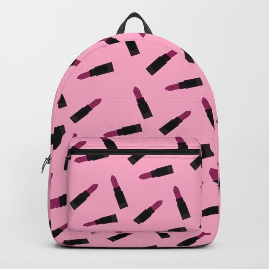 pink lipstick pattern Backpack