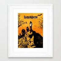 labyrinth Framed Art Prints featuring Labyrinth by Dan K Norris
