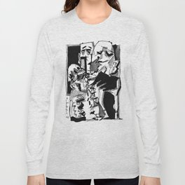 Chapter One: Never Talk with Strangers - b&w Long Sleeve T-shirt
