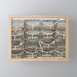 Lobster Traps Framed Mini Art Print
