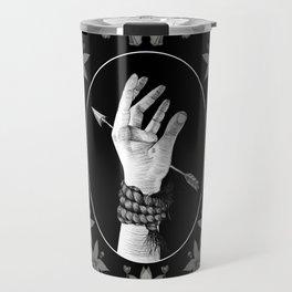 Pierced Hand Travel Mug