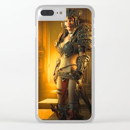 Warrior Woman Clear iPhone Case