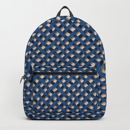 Large Blue Weave Backpack