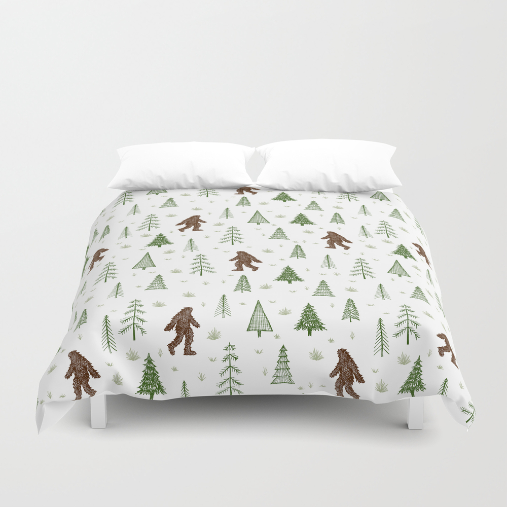 Trees + Yeti Pattern In Color Duvet Cover by Staceywalkeroldham DUV8597777