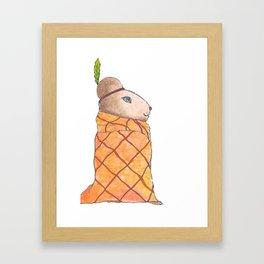 #018 - Chief Wompum Hamster Framed Art Print