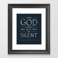 Psalm 50 Framed Art Print