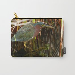 Beautiful Green Heron Carry-All Pouch
