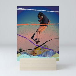 Scooter Jump Mini Art Print