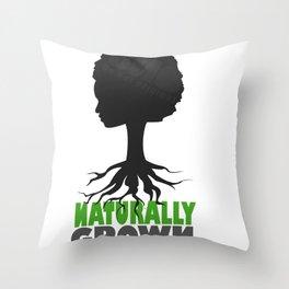 naturally grown Throw Pillow