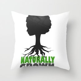naturally grown Throw Pillow