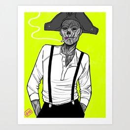 Neon Ghoul Art Print
