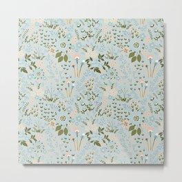 Star Sapphire Floral Celebration Moss Metal Print